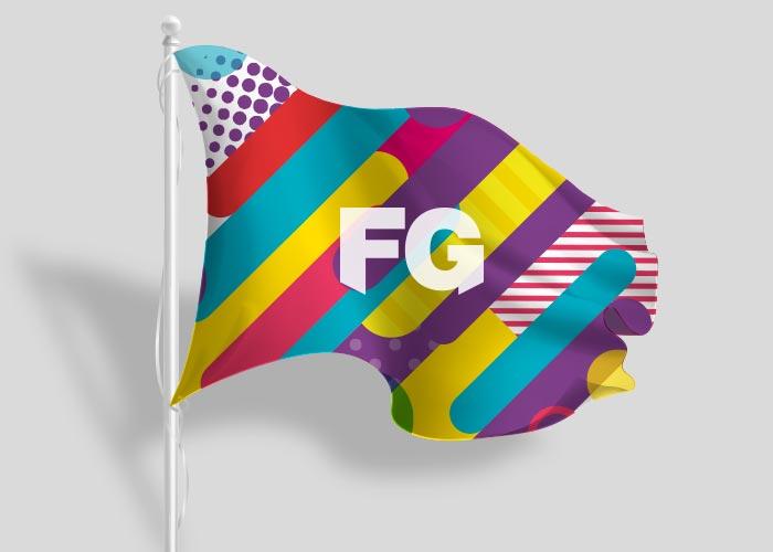 bandiera orizzontale personalizzata